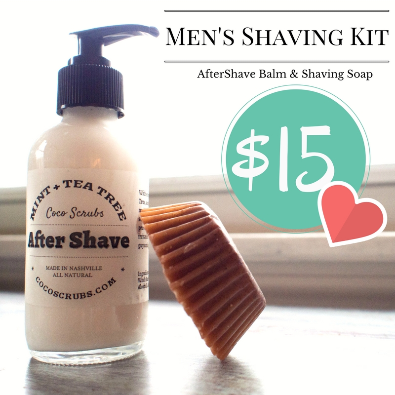 Mint & Tea Tree AfterShave Balm and Oat & Clove Shaving Soap