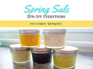 "Spring Sale 20% Off Everything with Coupon ""SpringSale"""
